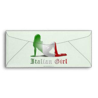Italian Girl Silhouette Flag Envelopes