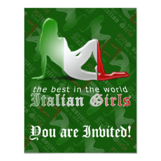 Italian Girl Silhouette Flag Announcement