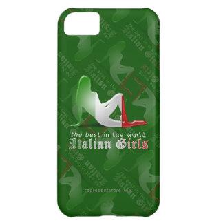 Italian Girl Silhouette Flag iPhone 5C Case