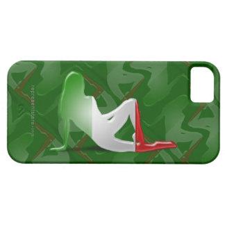 Italian Girl Silhouette Flag iPhone SE/5/5s Case