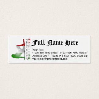Italian Girl Silhouette Flag Mini Business Card