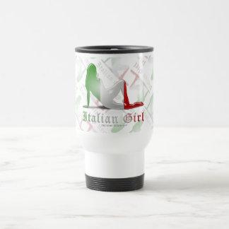 Italian Girl Silhouette Flag Mugs