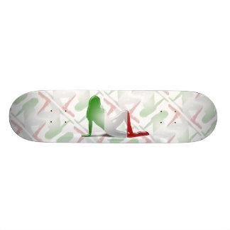 Italian Girl Silhouette Flag Skate Decks