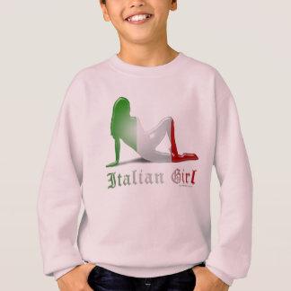 Italian Girl Silhouette Flag Sweatshirt