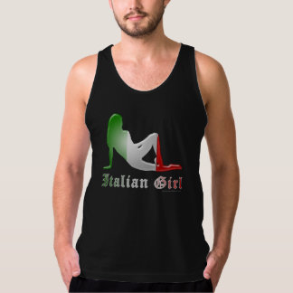 Italian Girl Silhouette Flag Tank Top