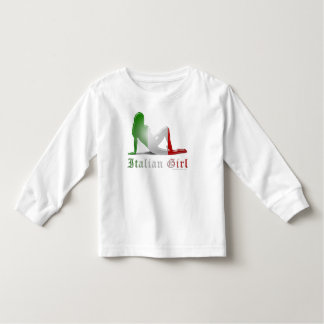 Italian Girl Silhouette Flag Toddler T-shirt