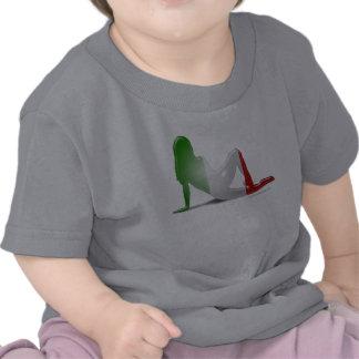 Italian Girl Silhouette Flag T-shirt
