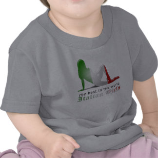 Italian Girl Silhouette Flag Tees