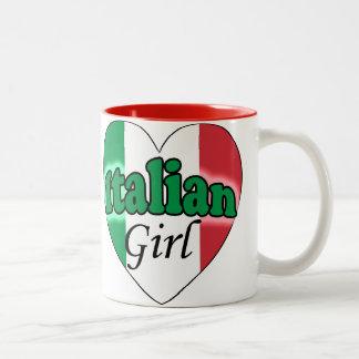 Italian Girl Two-Tone Coffee Mug