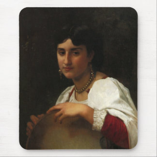 Italian Girl With Tambourine Mouse Pad