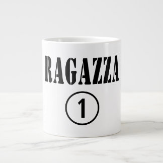 Italian Girlfriends : Ragazza Numero Uno 20 Oz Large Ceramic Coffee Mug