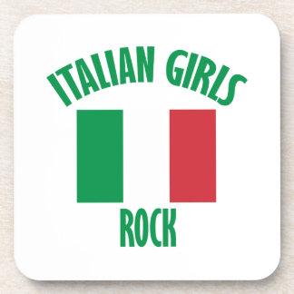 Italian girls DESIGNS Beverage Coaster