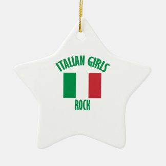 Italian girls DESIGNS Ceramic Ornament