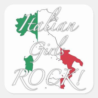 Italian Girls Rock! Square Sticker