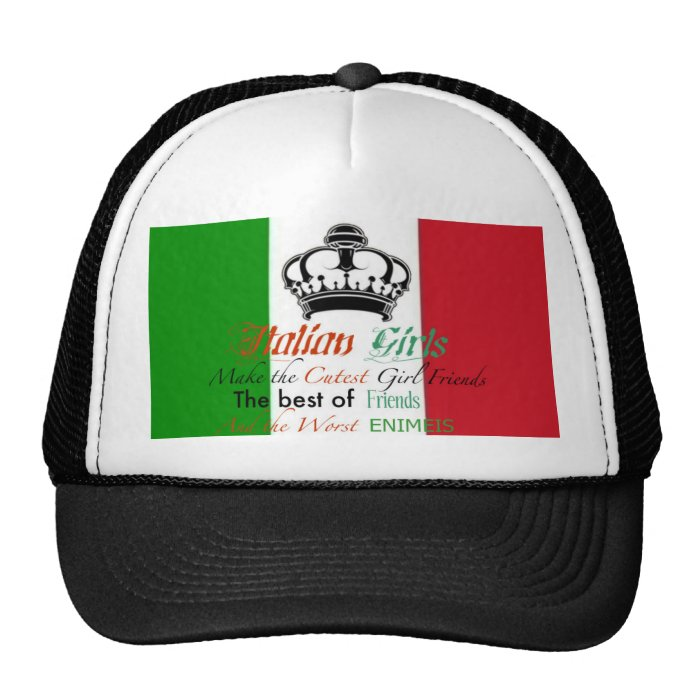 Italian girls trucker hat