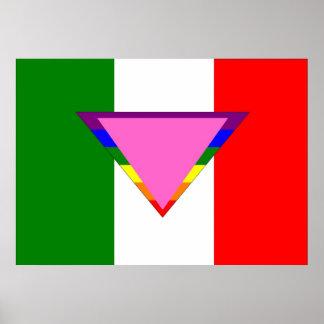 Italian GLBT Pride Flag Poster