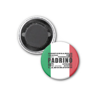 Italian Godfathers : Qualities 1 Inch Round Magnet