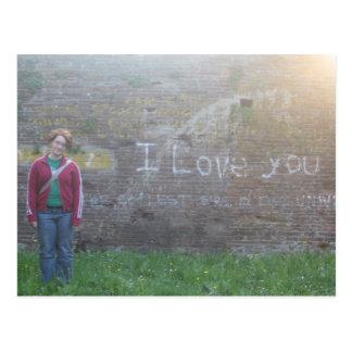 italian graffiti i love you postcards