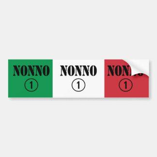 Italian Grandfathers : Nonno Numero Uno Car Bumper Sticker