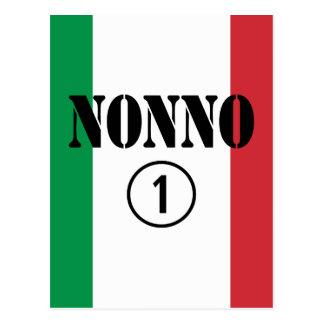 Italian Grandfathers : Nonno Numero Uno Postcard
