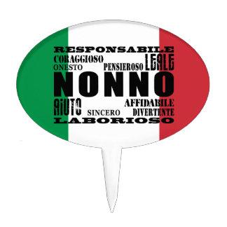 Italian Grandfathers : Qualities Cake Topper