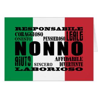 Italian Grandfathers : Qualities Card