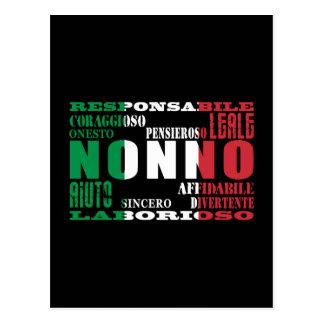 Italian Grandfathers : Qualities Postcard