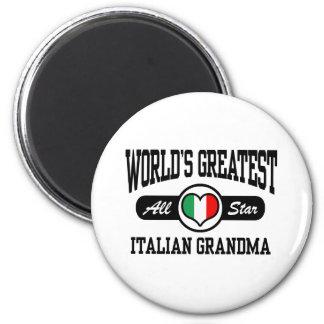 Italian Grandma 2 Inch Round Magnet