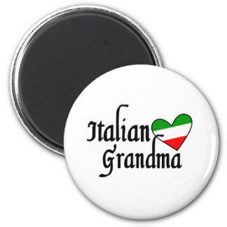 Italian Grandma T-shirt 2 Inch Round Magnet