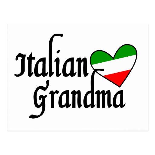 Italian Grandma T-shirt Postcard