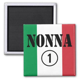 Italian Grandmothers : Nonna Numero Uno 2 Inch Square Magnet