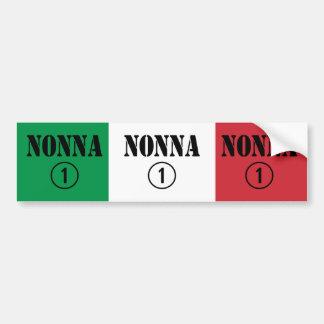 Italian Grandmothers : Nonna Numero Uno Car Bumper Sticker