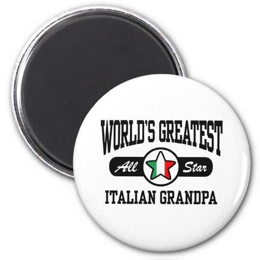 Italian Grandpa 2 Inch Round Magnet