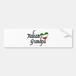Italian Grandpa Tshirt Bumper Sticker
