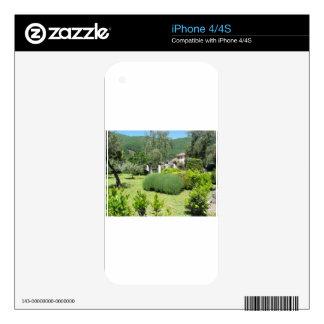 Italian green garden decals for iPhone 4