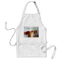 Italian Greeting Cat in Santa Hat Apron