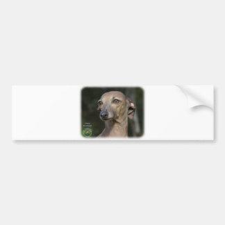 Italian Greyhound 9K74D-11 Car Bumper Sticker