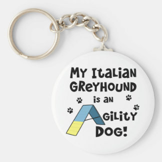 Italian Greyhound Agility Dog Key Chains