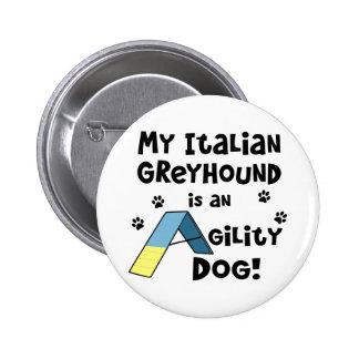 Italian Greyhound Agility Dog Pin
