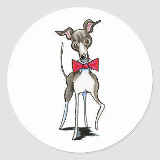 Italian Greyhound Antonio Classic Round Sticker