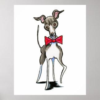 Italian Greyhound Antonio Poster