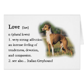 Italian Greyhound Art Gifts Card