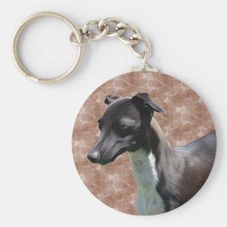 Italian Greyhound Basic Round Button Keychain