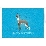 Italian Greyhound Birthday Design Greeting Card
