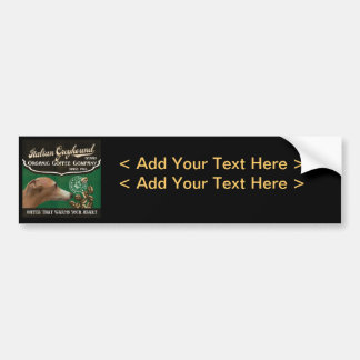 Italian Greyhound Brand - Organic Coffee Company Bumper Sticker