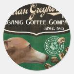Italian Greyhound Brand - Organic Coffee Company Stickers