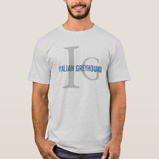 Italian Greyhound Breed Monogram T-Shirt