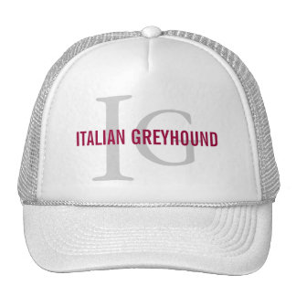 Italian Greyhound Breed Monogram Trucker Hat