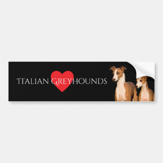 Italian Greyhound Bumper Sticker