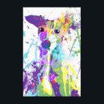 "Italian Greyhound Canvas Print<br><div class=""desc"">Pop art representation of an Italian Greyhound.</div>"